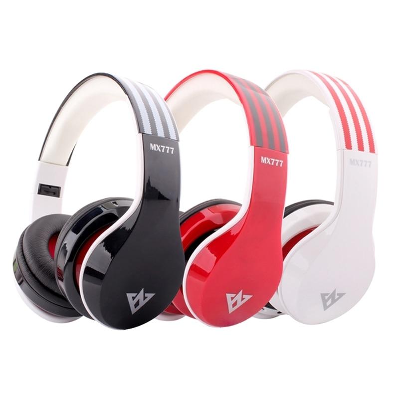 OVLENG MX777 Wireless Bluetooth Headphone 3.5mm Jack Stereo Fold Headset FM Headband Music Player for iPhone iPad iPod Samsung