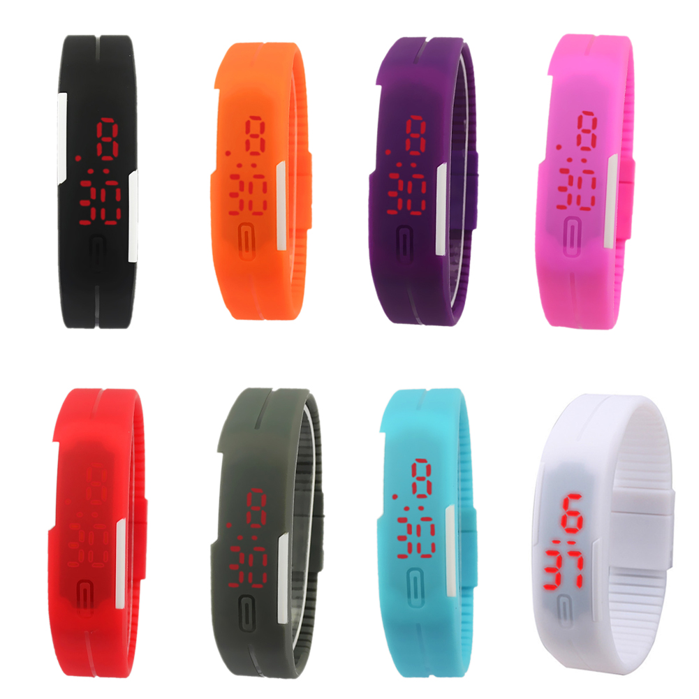 Hot Sale Unisex LED Silicone Band Digital Watch Sports Wrist Watch For Men Women New Smile Clock