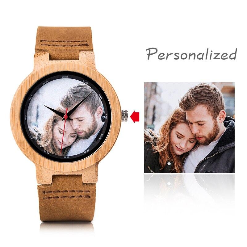 BOBO PÁSSARO Impressão de Fotos Pessoais Relogio masculino Relógio De Madeira com Caixa de Presente Do Logotipo Personalizado Transporte da gota