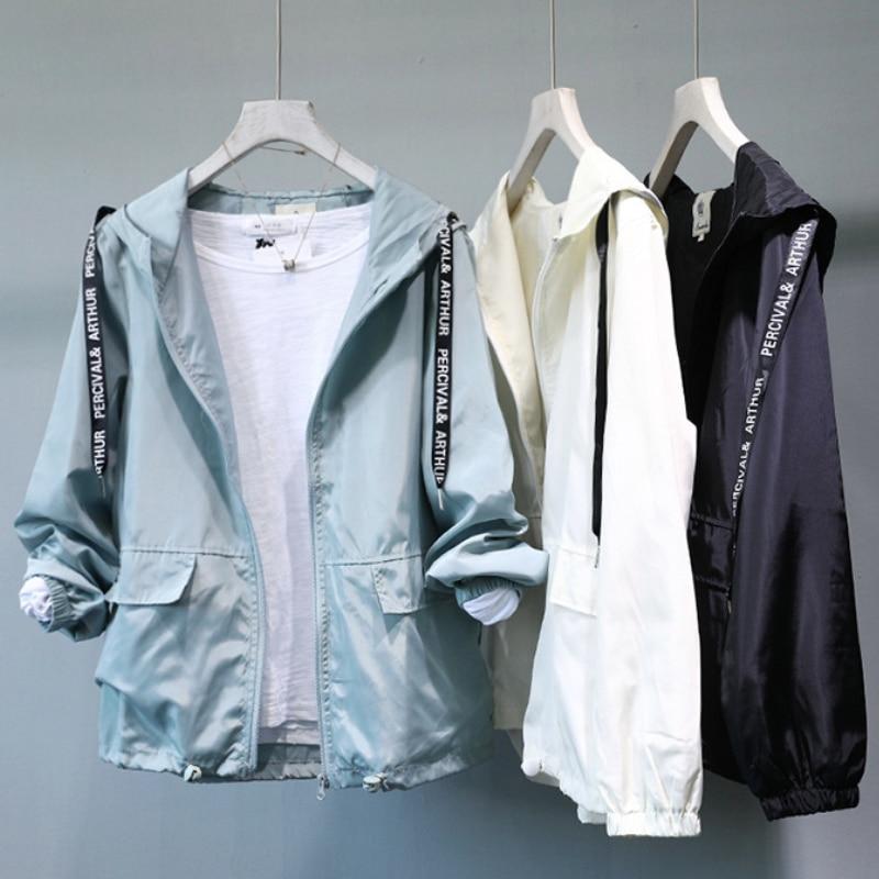 Jacket Women Basic Jacket Female Warm Coat Women Clothes Casual Feminino Coats Jacket Outwear Hooded Pocket Zipper Thin Jacket