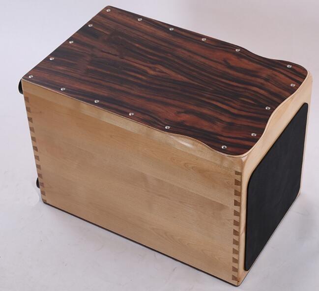 Bois massif Cajon tambour instruments de musique Grenadilla érable corps couleur normale EMS livraison gratuite
