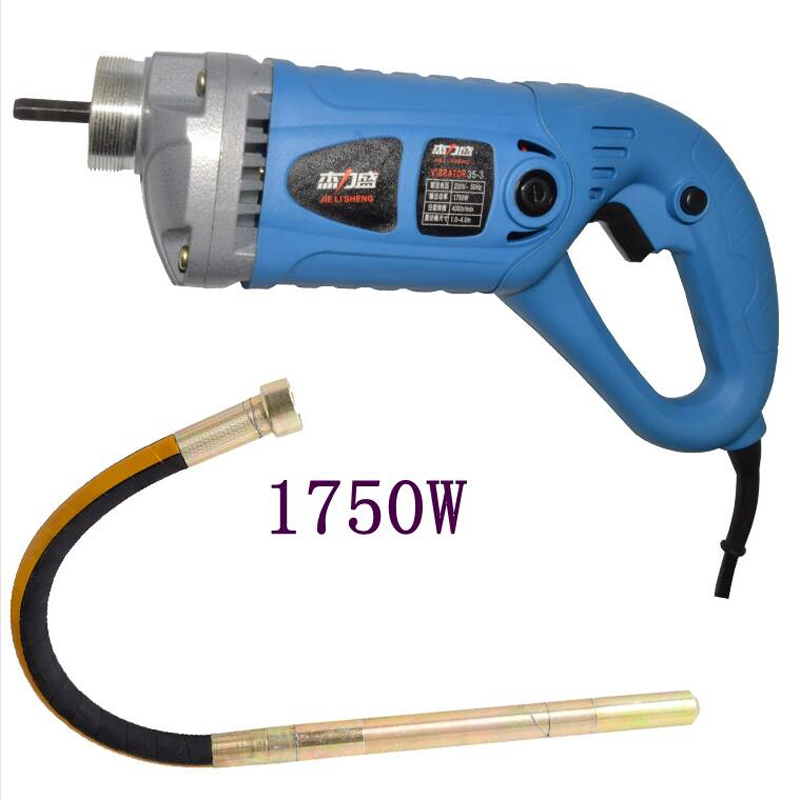 35mm Electrical Concrete Vibrator 1750W 220V With Copper Motor Construction Tools