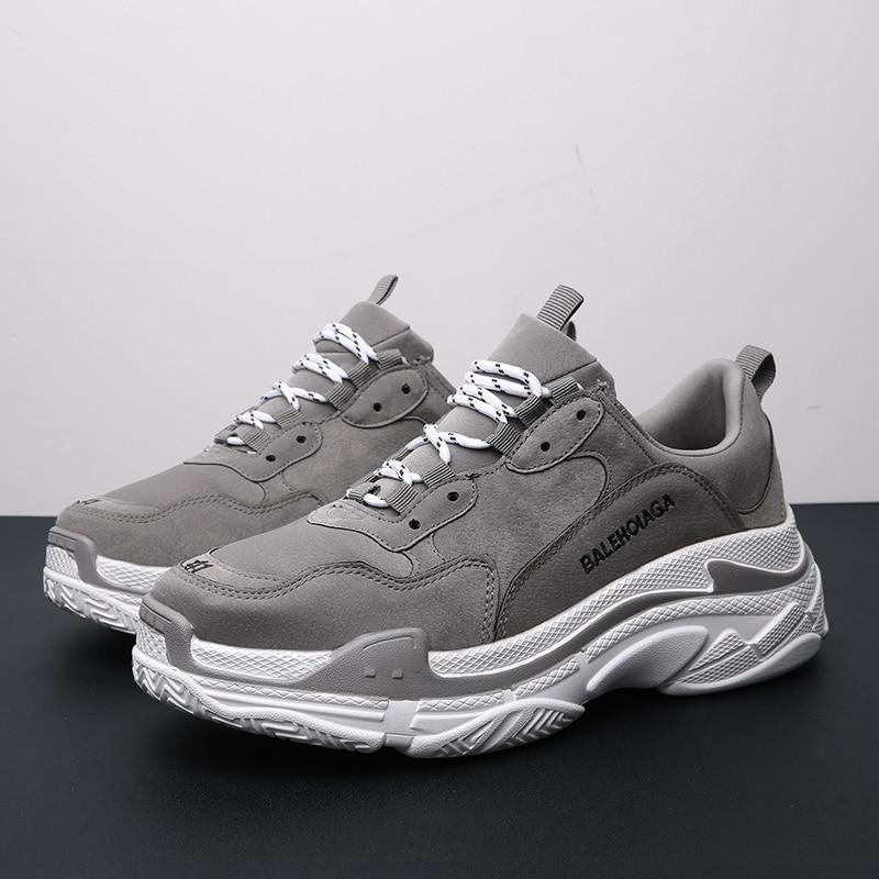 Homme course chaussures printemps automne Jogging homme baskets gris noir hommes Gym formateurs chaussures confortable Sport chaussures pour hommes