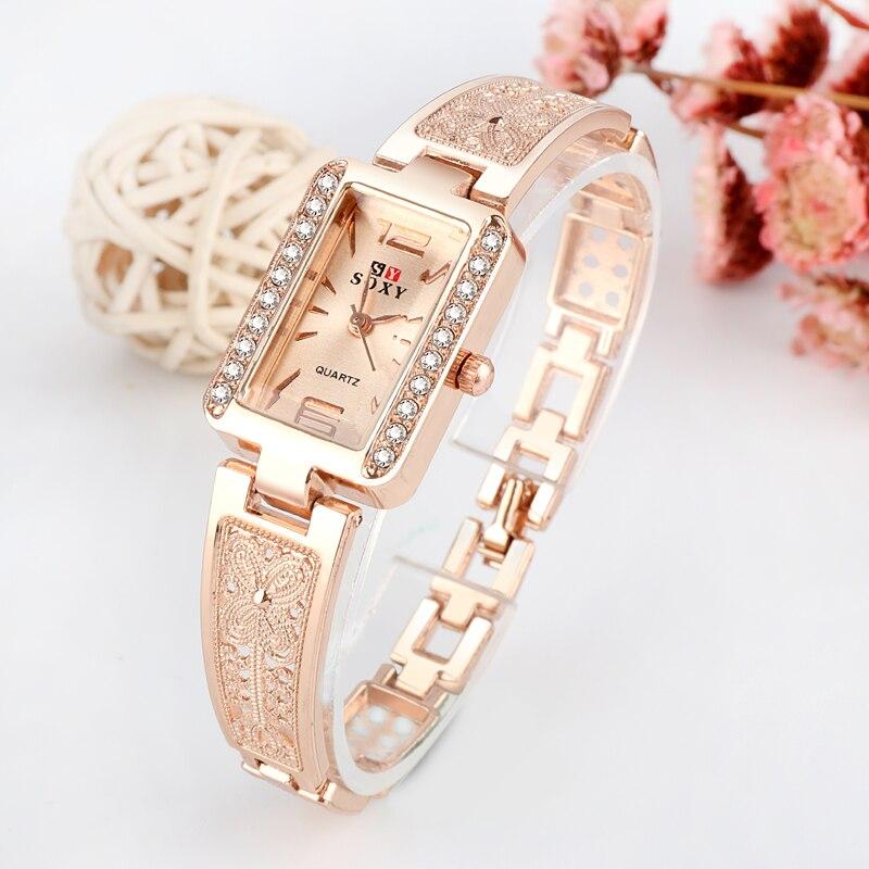 Top Brand Luxury Bracelet Watch Women Watches Rose Gold Women's Watches Diamond Ladies Watch Clock Reloj Mujer Relogio Feminino