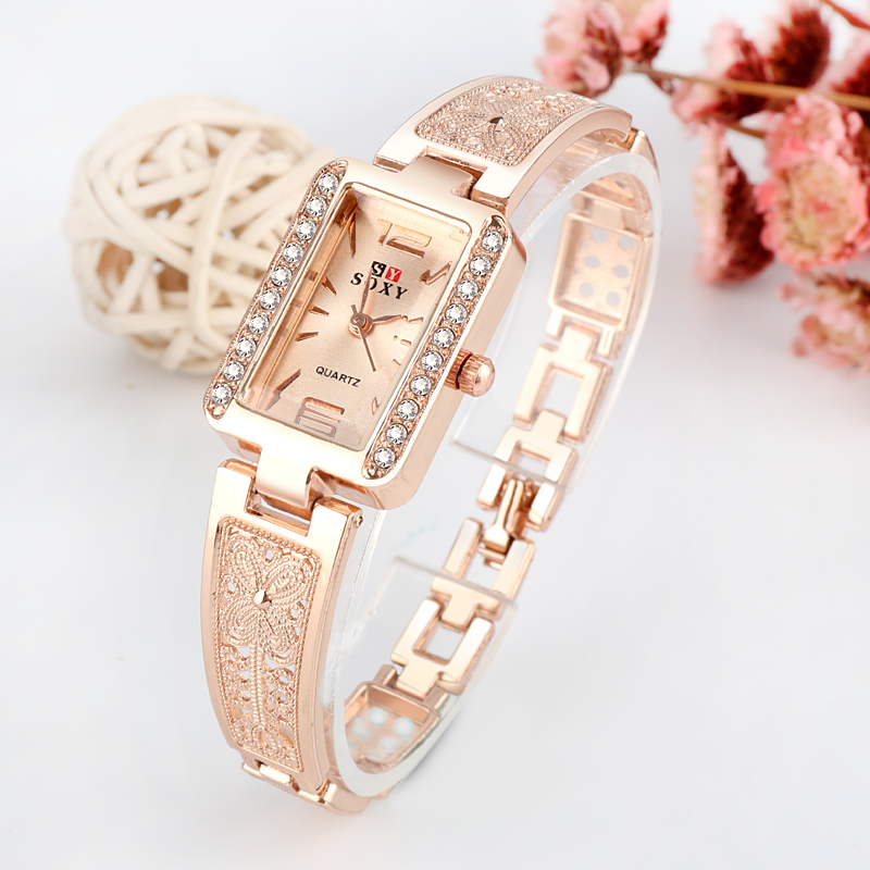 Top Brand Luxury Bracelet Watch Women Watches Rose Gold Women's Watches Diamond Ladies Watch Clock Reloj Mujer Relogio Feminino