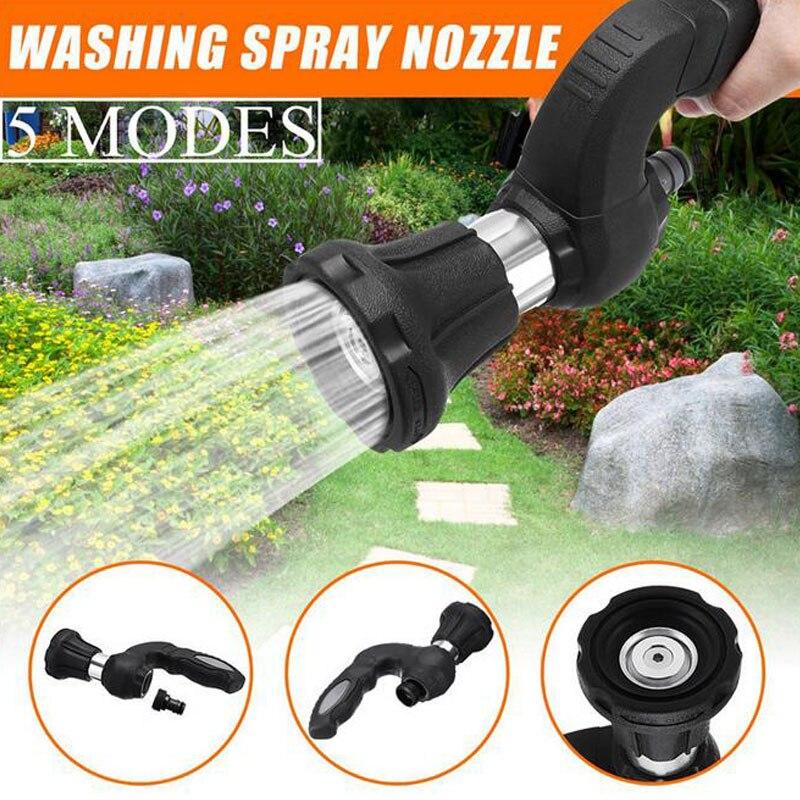 5 modi Garten Schlauch Wasser Spray Maschine Bewässerung Düse Multifunktions Leistungsstarke Hause Auto Garten Bewässerung Werkzeug Hochdruck