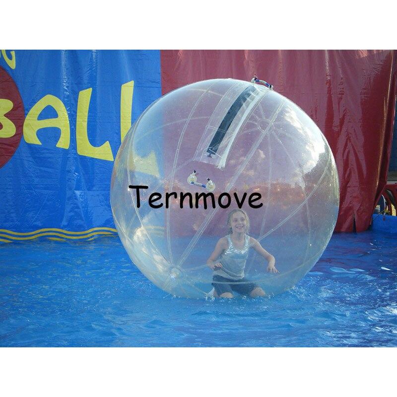 Boule de marche de l'eau transparente, boules d'eau de Zorbing pour la piscine, boule de rouleau de marche, boule de roulement d'aqua d'importation pour des enfants et l'adulte