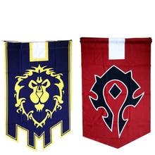 World Of Warcrafts Wow Alliance Орда баннер флаг лавсан Синий Домашний Декор Аксессуары для косплея реквизит для косплея