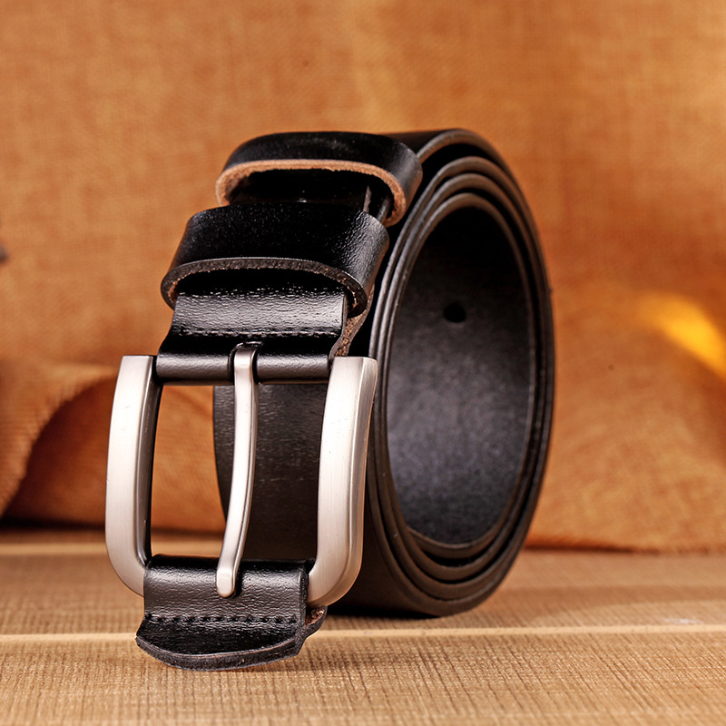 Flying Art Brand Designer Belts Men High Quality Two sided use Cowhide Fashion Leather Buckle Men Belt Luxury Bussiness Casual