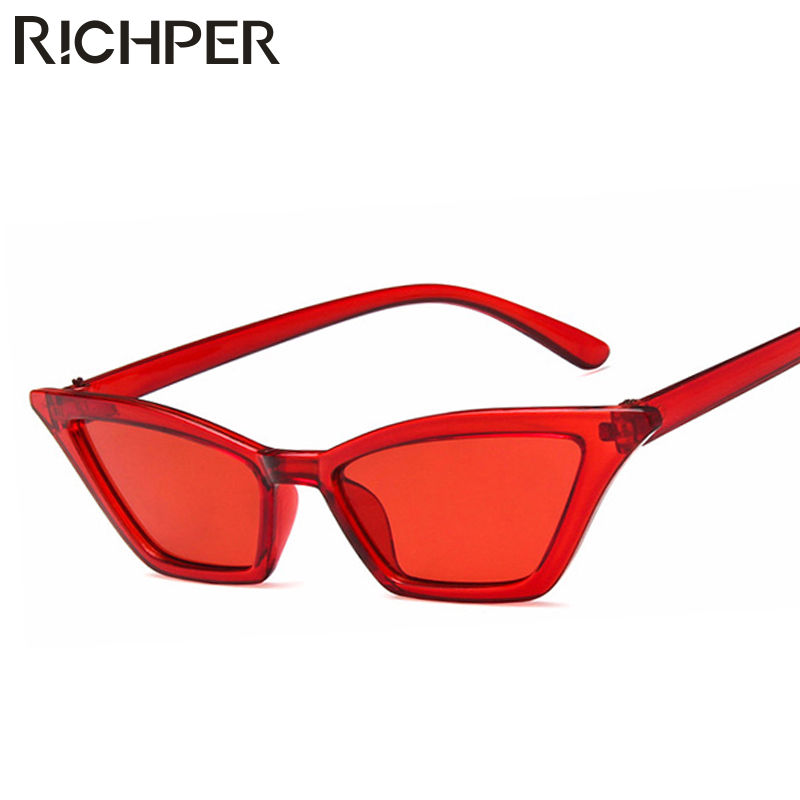 d8ee984c1e7f Fashion Cat Eye Sunglasses Women Luxury Brand Designer Vintage Sun Glasses  Small Red Black ladies Sunglass Eyewear oculos de sol-in Sunglasses from  Apparel ...