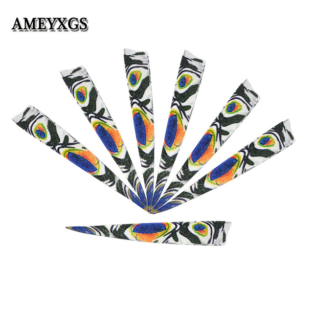 """60/120pcs 4"""" Turkey Feathers Shield Right Wing Natural Feather Outdoor Sport Shooting Hunting Archery Arrow DIY Tool Accessories"""