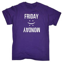 Designer Shirts  Friday Happy Monday Sad Men'S Premium O-Neck Short-Sleeve Tee Shirts happy friday панно botanic printed