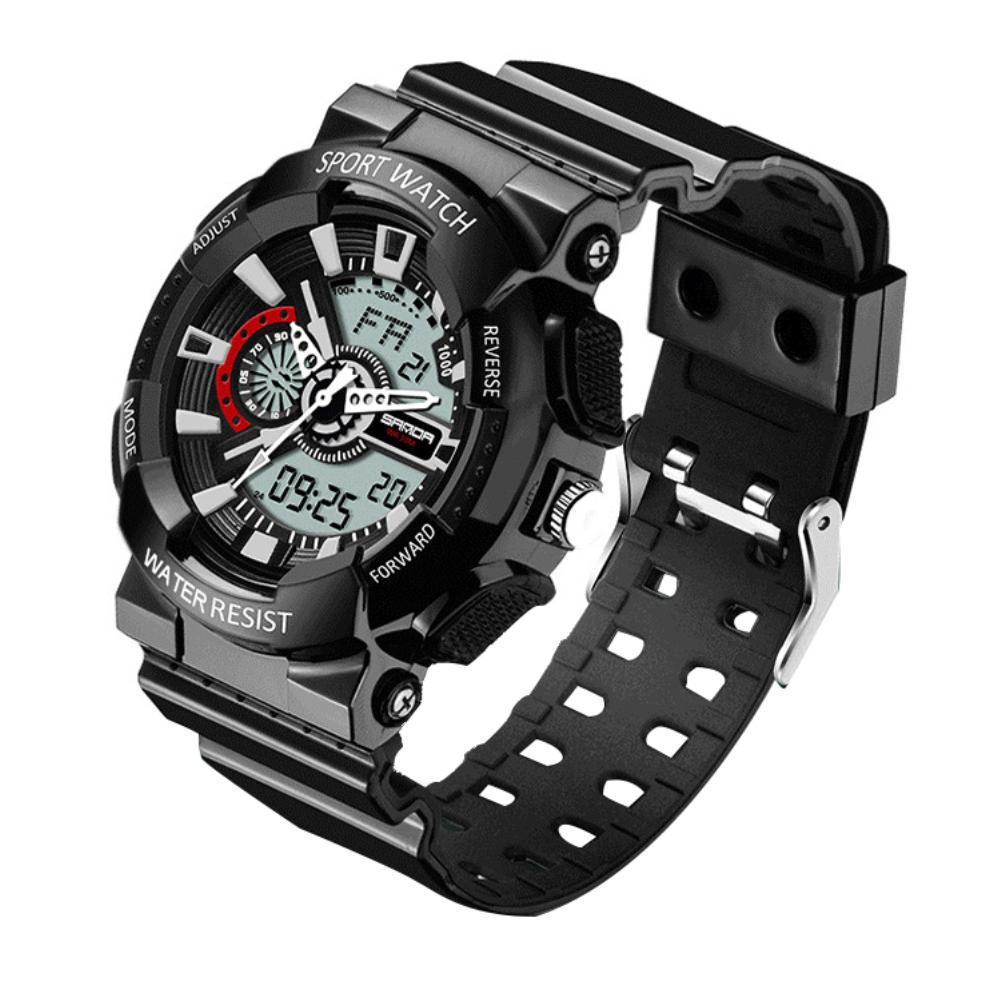 Reloj 2018 Mode Frauen Männer Sport Kalender Luminous Dual Display Digital Quarz Handgelenk Uhren Ausreichende Versorgung