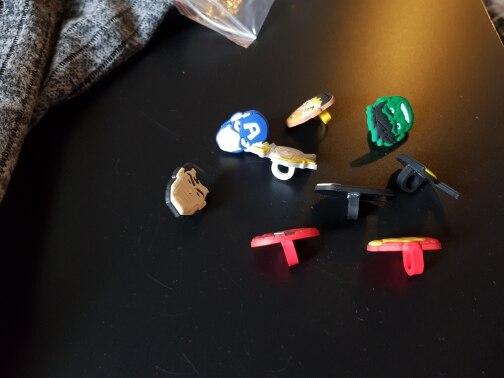 Image 4 - 100pcs Mixed by Random Cartoon Mini Figure PVC Pencil Toppers Pen Caps Stationery School/Office DIY Supplies Kid Xmas GiftStationery Set   -