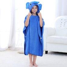 Детское Пончо; полотенца с рисунком животных; детский банный халат; хлопковый Халат с единорогом; Пижама для маленьких девочек; летний купальный костюм; накидка; Garcons