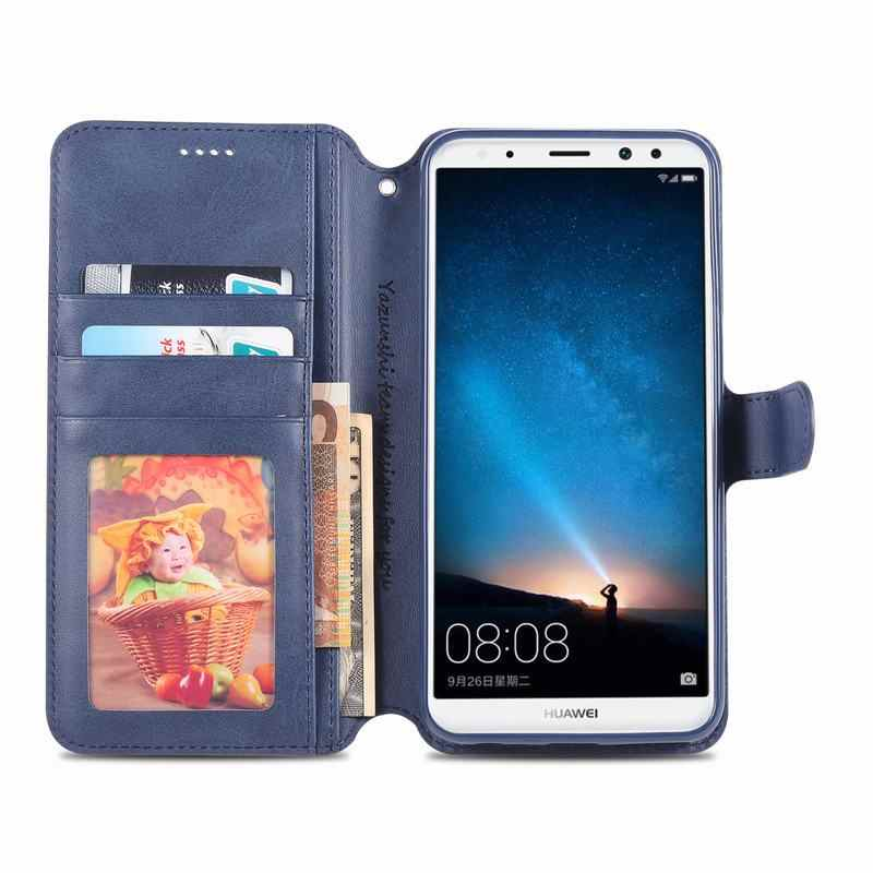 Case For Huawei Mate 10 Lite Smart Case Cover Flip Magneitc Vintage Luxury Wallet Phone Leather Bag For HUAWEI Mate 10lite Funda