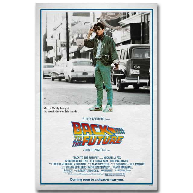 Back To The Future 1 2 3 Art Silk Poster Print 13×20 inch Classic Movie Pictures for Living Room Decoration 001