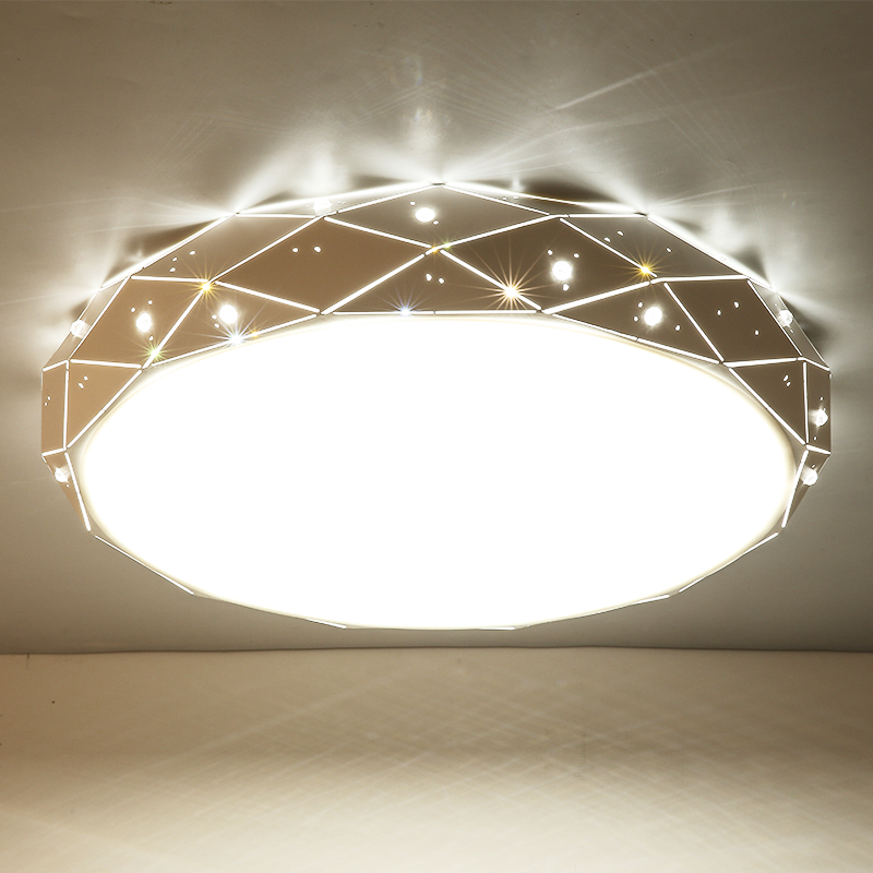 Lican White Round Led Ceiling Chandelier For Living Room Bedroom Home Ac85 265v Modern Lamp Fixture Ping Malaysia Free
