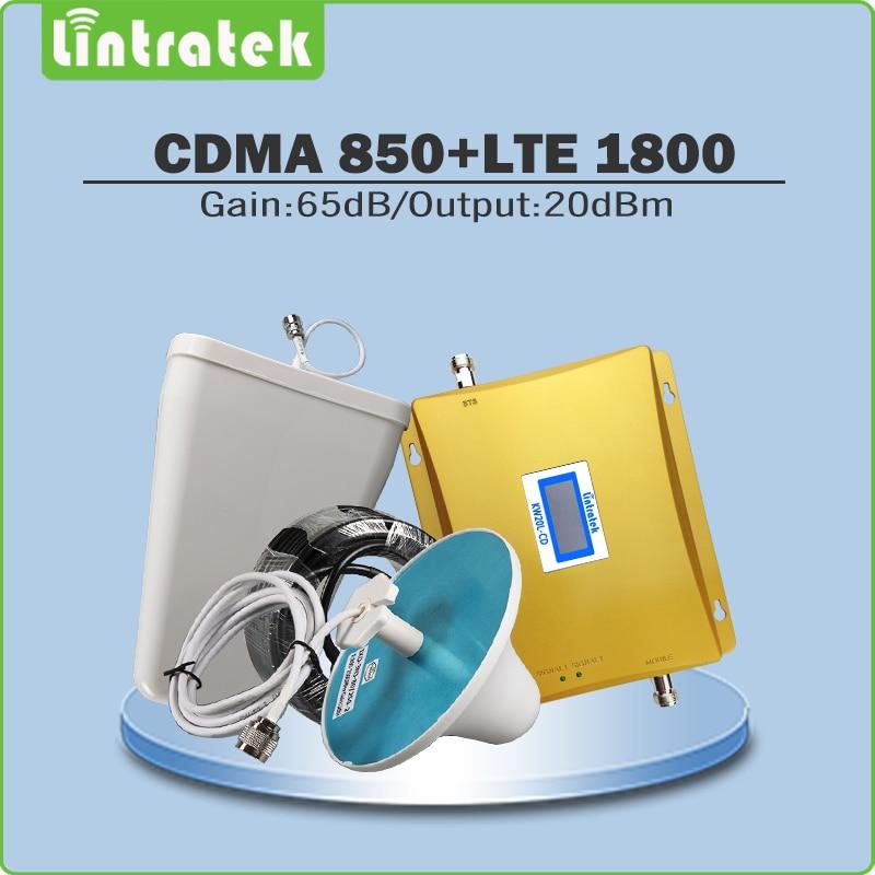 Kit complet répéteur double bande amplificateur de Signal CDMA DCS 850 Mhz 1800 Mhz amplificateur de signal de téléphone portable avec antenne et câble @ 7.9