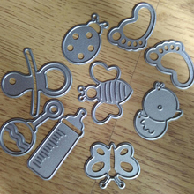9Pcs/ Set Cute Baby Suit Metal Cutting Dies Stencils DIY Scrapbooking Decorative Craft Photo Album Embossing Folder Paper Cards