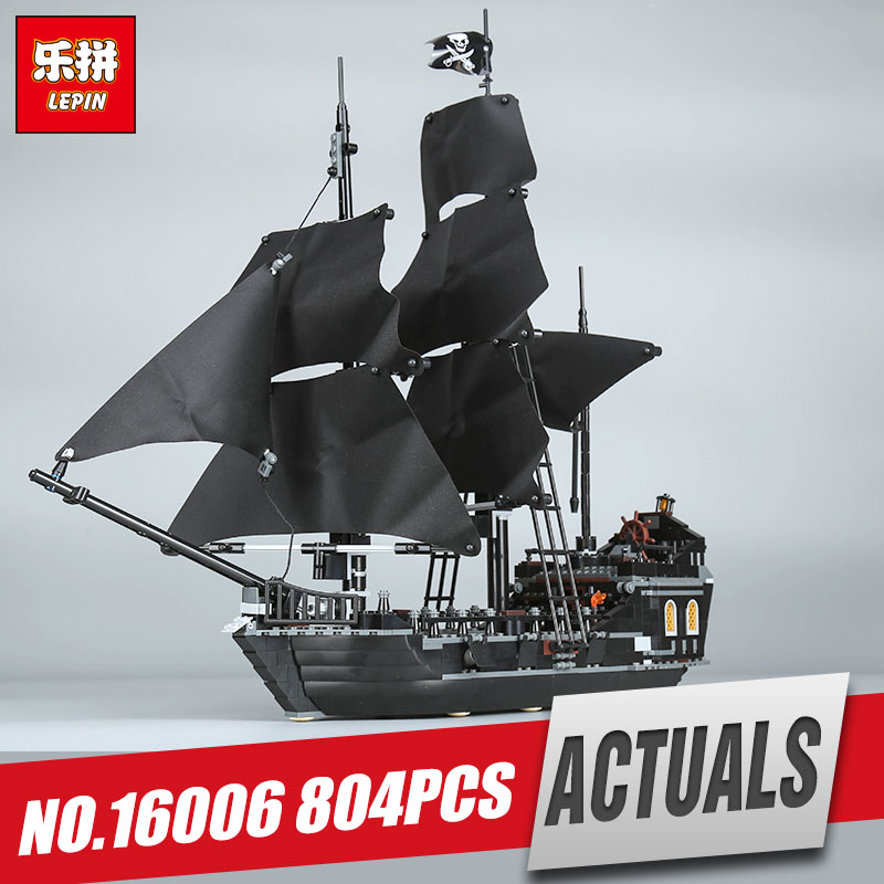 LEPIN 16006 New Pirates of the Caribbean The Black Pearl Building Blocks Set 4184 Funny Toy For Children birthday gift lepin 16006 804pcs pirates of the caribbean black pearl building blocks bricks set the figures compatible with lifee toys gift