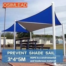 Osimlead 3*4*5 м козырек от солнца паруса-прямоугольник полога-открытый патио тент 12*12*12