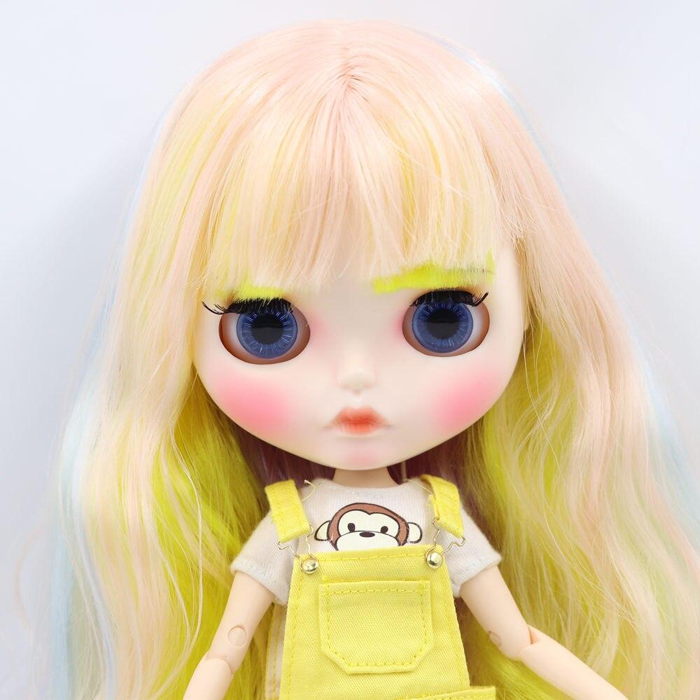 Oyuncaklar ve Hobi Ürünleri'ten Bebekler'de BUZLU Çıplak Blyth Doll Için No. 708400660052352 (330) renkli saç Oyma dudaklar Mat yüz kaşları Ortak vücut 1/6bjd'da  Grup 3