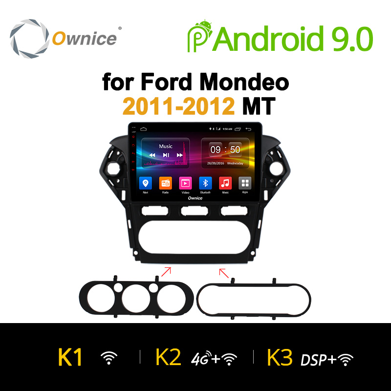 "Ownice 10.1"" K1 K2 Octa Core Android 9.0 Car 2 Din Radio DVD GPS Navi For Ford Mondeo 2011 2012 Auto Head unit Audio multimedia"