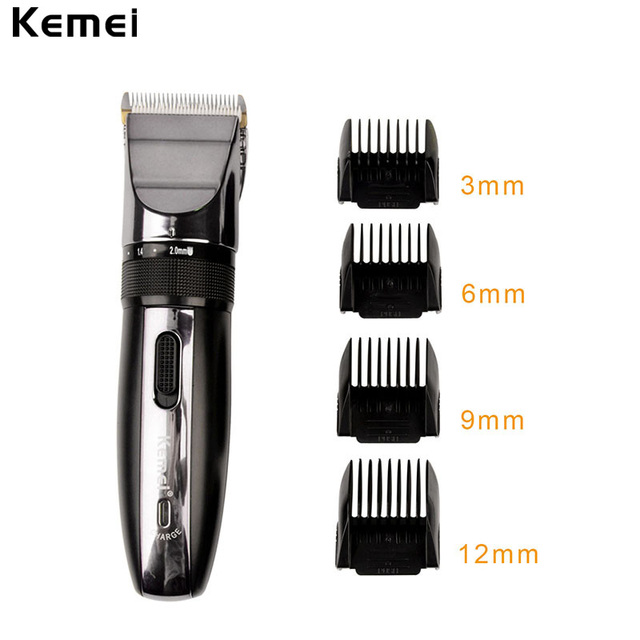 Professional Rechargeable Hair Clipper With Adjustable Comb By Kemei