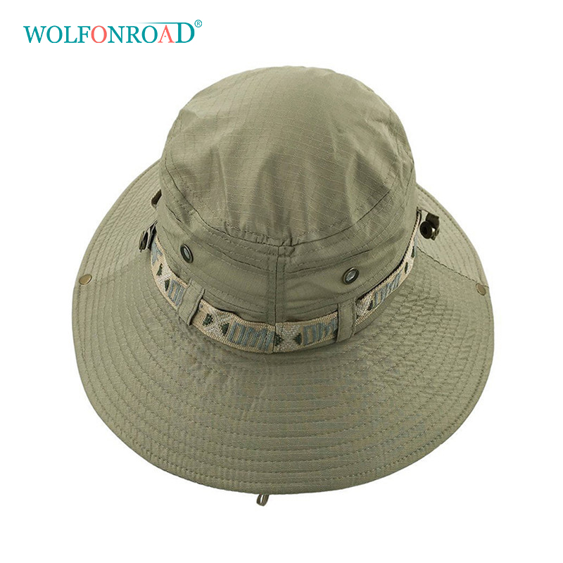 154b042ef1a WOLFNROAD Army Men Tactical Sniper Hats Sun Boonie Hat Summer UV Protection  Cap Men s Military Fishing Cap Hunt Hat Nepalese -in Hiking Caps from  Sports ...