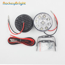Round Daytime Driving Running Light DRL Car Fog Lamp Headlight 9LED Round Daytime Running Light DRL With Automatic Switch white auto car led daylights drl daytime running light driving lamp set for ford focus 2015 white us