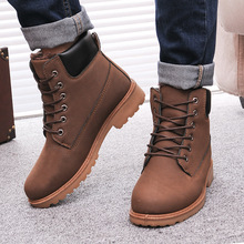 Men Winter Boots 2016 new PU Leather men boots Hot Sell Plus cotton snow boots Warm Winter men shoes