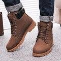 Botas dos homens Botas de Inverno 2016 novos homens de Couro PU Venda Quente Além de algodão botas de neve de Inverno Quente sapatas dos homens