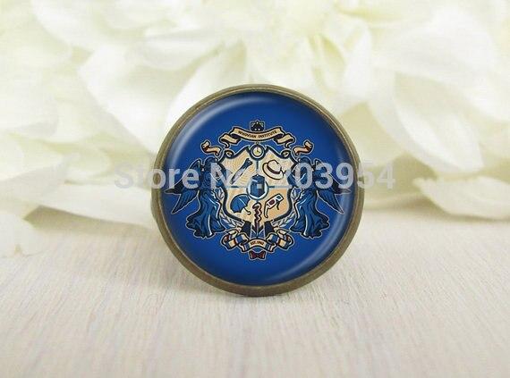wholesale 12pcs doctor who Badge gallifreyan Adjustable ring brass pendant men women fashion vintage xmas gift steampunk jewelry