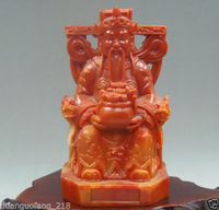 Crafts statue Antique collectibles shoushan stone handwork carved Fortuna statue (variety of options) halloween