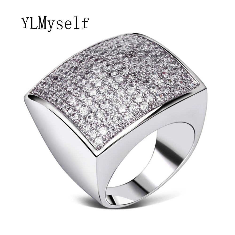 Unique square shape big ring high quality jewelry Classic Is Women - Fashion Jewelry