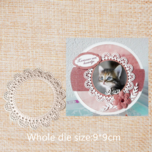 Circle Lace  Metal Stencil Embossing Cutting Dies DIY Scrapbooking Craft Photo Invitation Cards Decoration 9*9 cm