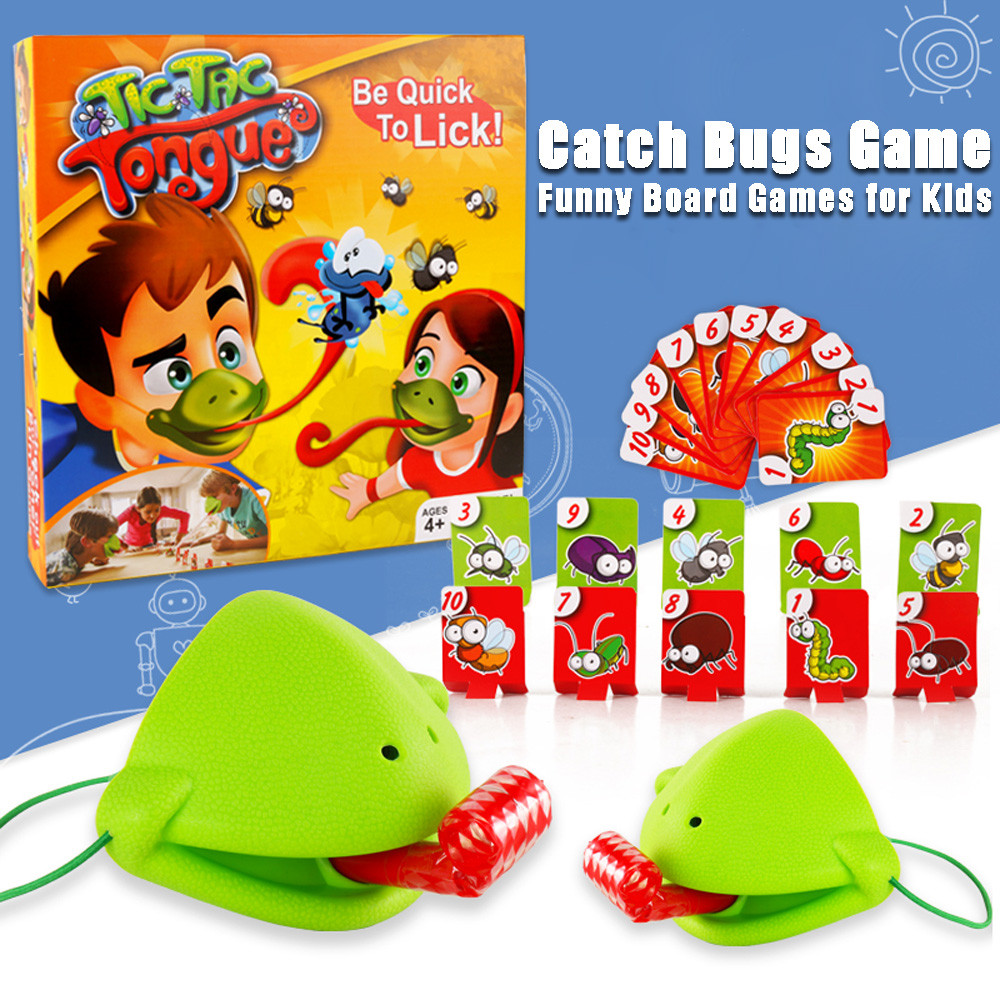 Funny Take Card-Eat Pest Catch Bugs Game Desktop Games Board Games For Kids F4