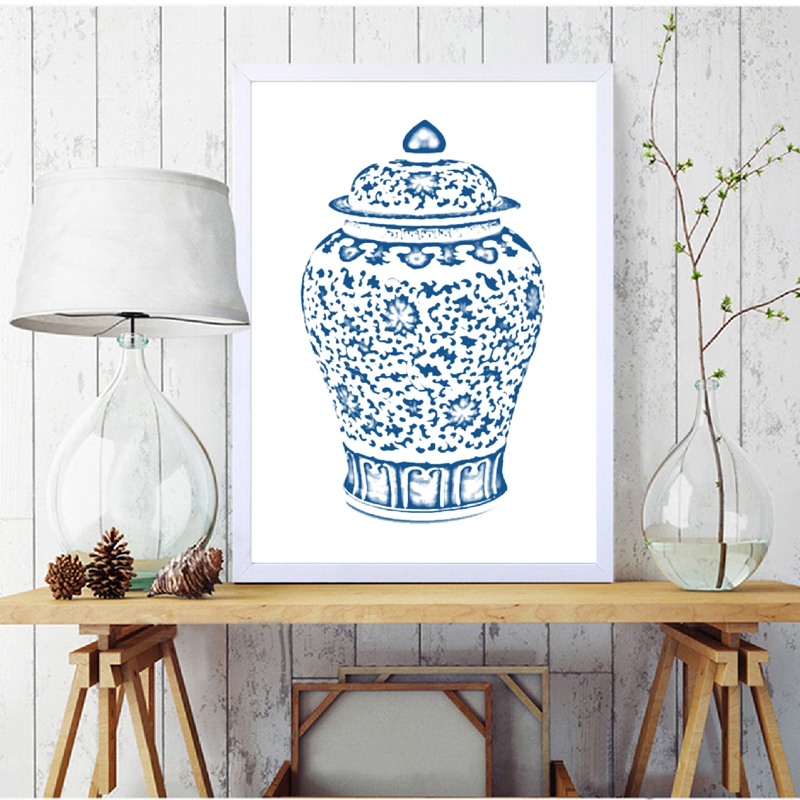 Chinoiserie Vases Canvas Prints