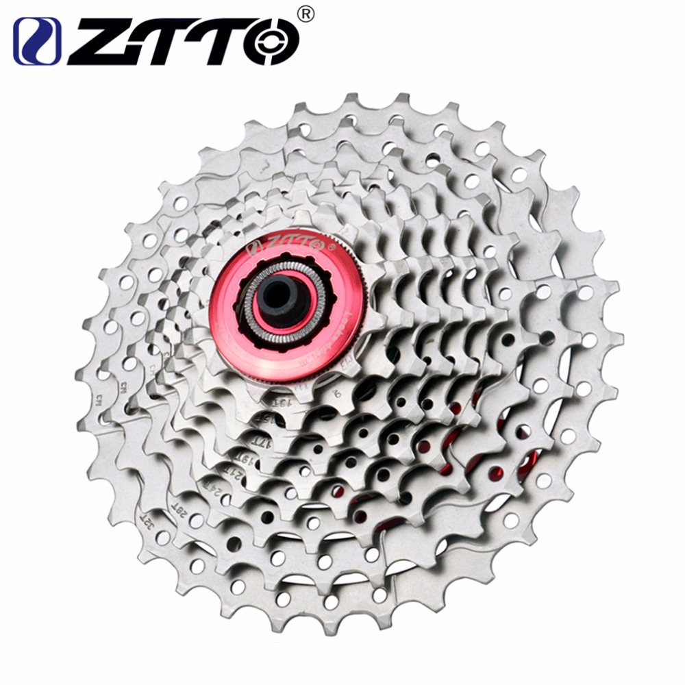 ZTTO MTB Mountain Bike 9 Speed Freewheel 11-32T Wide Ratio Cassettes Sprockets For Shimano M370 M430 M4000 M590 M3000