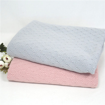 Knitted Double -Sided Diamond  Fabric Blanket for newborn photography  props Newborn Sweater Backdrop Stuffer blanket  Props