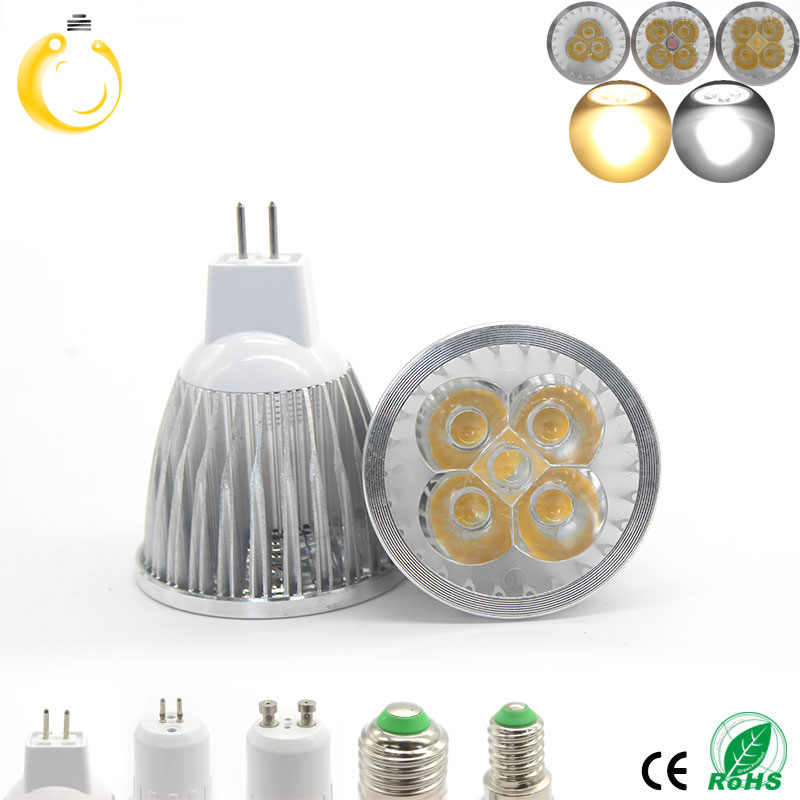 1PCS  High power chip LED bulb MR16 9W 12W 15W 12V Dimmable Led Spotlights WarmWhite/Pure White/Cool White LED lamp