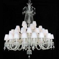 48 arms Grande lampadario di cristallo Star hotel grande lampadario con paralumi soggiorno villa moderna di lusso lampadario di candela