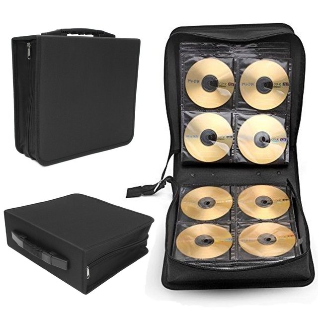 Large 288 Disc CD DVD Storage Box Case Oxford Cloth Carry Bag Binder Book  Sleeves Rack