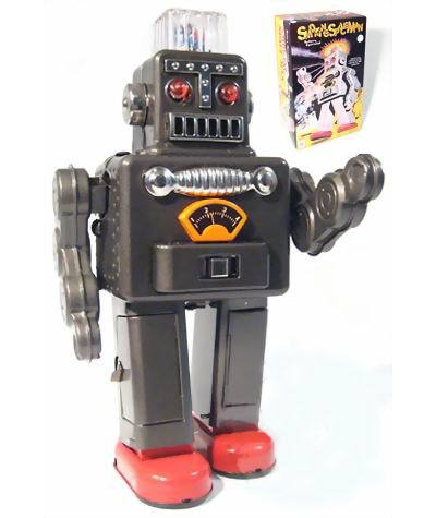 Retro Collection Tin Toys Mkd3 Children Metal Wind Up Auto Models Robot Handmade Iron Mechanical TR2011 Electric Smoking Robot