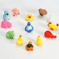 13 pcs Conjunto De Borracha Raça Squeaky Banho Brinquedos de Banho Do Bebê Animal Bonito De Água De Natação Brinquedos 0-12 Meses