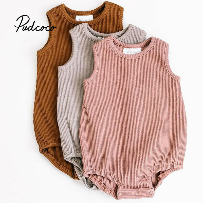 Pudcoco 2019 Baby Girl Clothes Bodysuit Newborn For Kids Costume Children Toddler Tiny Cottons Solid Floding 1Pcs Cute Clothing