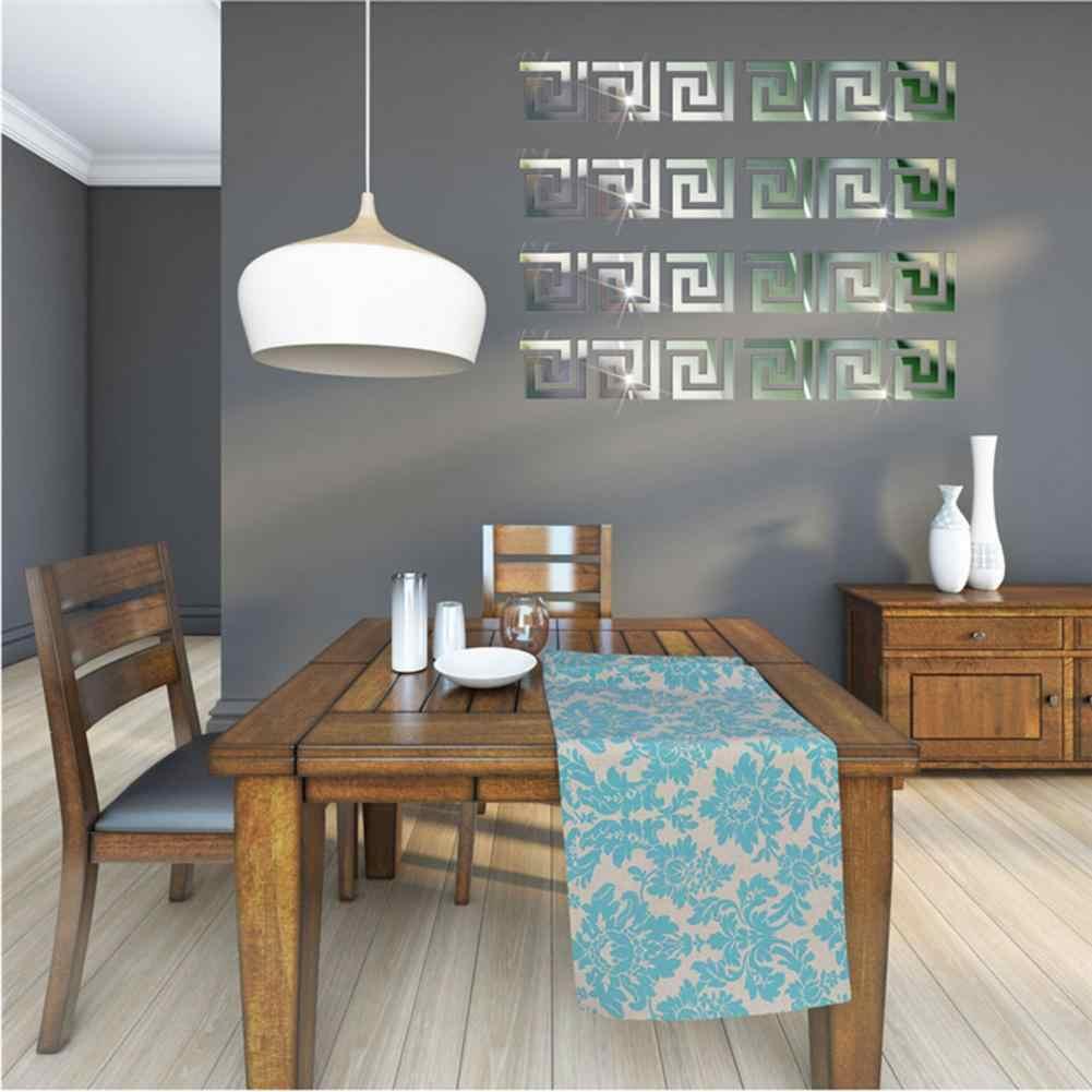 10 قطعة/المجموعة 10x10 سنتيمتر DIY نمط هندسي تأثير مرآة الاكريليك ملصقا الجدار ملصق مرآة سطح ملصقات الحائط ديكور المنزل
