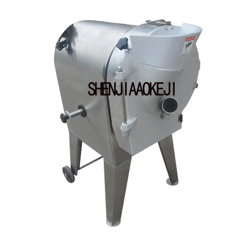 TJ-312A Vertical Stainless Steel Shred Slicing Machine Kitchen Equipment 220V 750W Carrot Horseshoe Dicing Cutting Machine 1pc