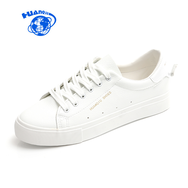 HUANQIU Women Shoes Leather White Shoes Casual Outdoor Flat Shoes with Cute Tails 2017 Fashion Trend Zapatillas Deportivas Mujer hellyhansen women s outdoor casual shoes leather shoes flat shoes